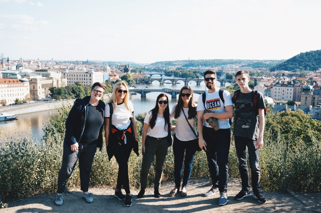 Team one on the hill above Prague.